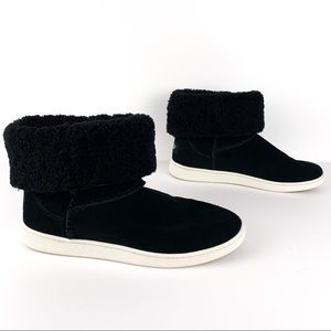 UGG Mika classic sneaker boots, black suede with wool lining, size 9